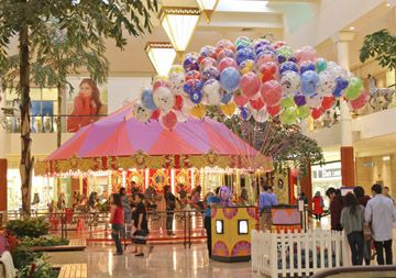 carousel at South Coast Plaza Mall