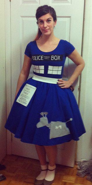 TARDIS poodle-skirt by dithie, via Flickr    I love K-9 as the poodle.  :D