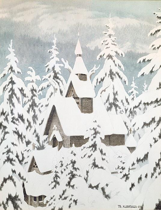 Theodor Severin Kittelsen: Church in the Snow