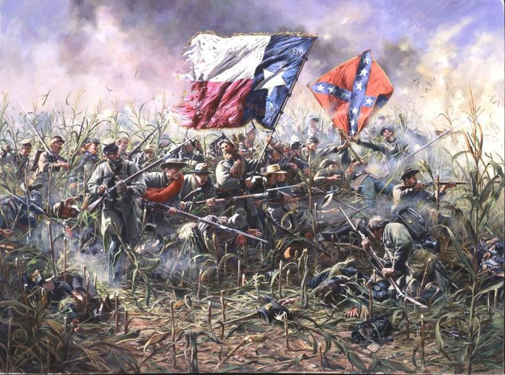 General George B McClellan Drove His Union Army Against Robert E Lees Southerners Color GuardCivil War ArtAmerican