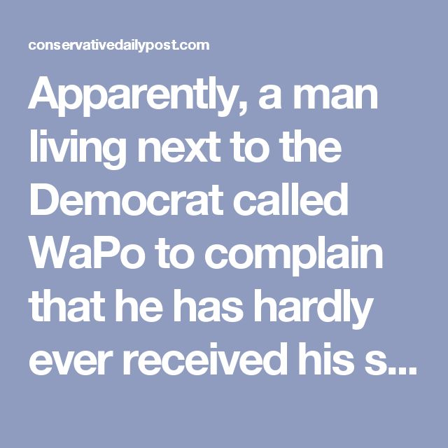 Apparently, a man living next to the Democrat called WaPo to complain that he has hardly ever received his subscription. Eventually, after a deep investigation into this strange matter, the paying customer realized that his neighbor Bernie Sanders was stealing his paper.