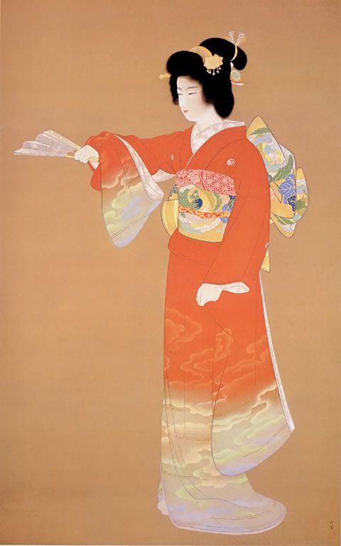 上村松園 Syouen Uemura『序の舞』(1936)東京芸術大学蔵
