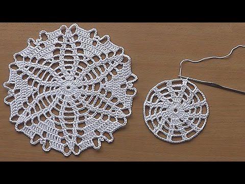 Tapete o carpetita tejido a crochet para centro de mesa - YouTube