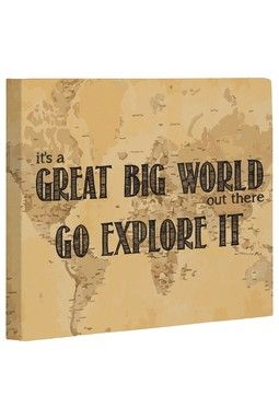 HauteLook | In Demand: Whimsical Art, Totes & Pillows: Great Big World Map Wall …