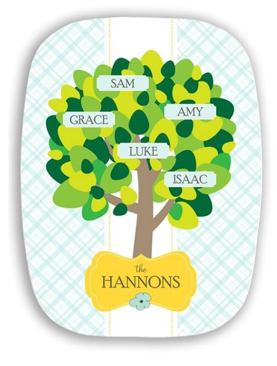 10x14 Personalized Family Tree Melamine Platter $37.50 {sincerely yours paper} -coordinating dinner plates also available-Coordinating Dinner, 10X14 Personalized, Melamine Platters, Dinner Plates, Gift Ideas, Families Trees, Personalized Families, Fair Booths, Syp Paper