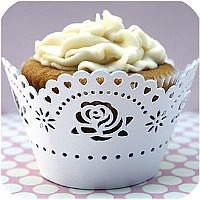 Decorative Lace Cupcake Liners -White Rose (found here: http://www.kakekreations.com/store/pc/viewPrd.asp?idcategory=11=1166)