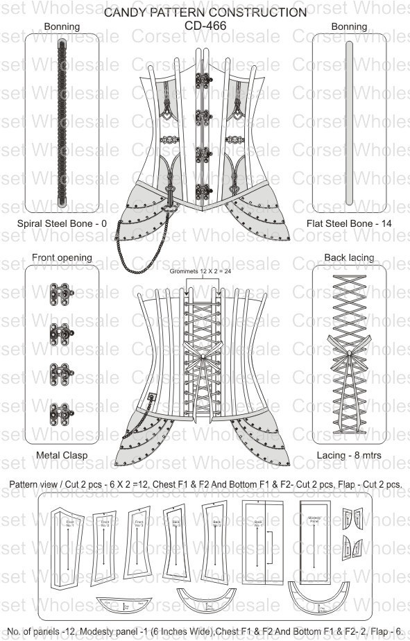 Steampunk Overbust Corset Steel Boned Waist Reducing Tight Lacing Corset: CD-466 | eBay