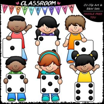 Dice Kids - Clip Art & B&W Set | Clip art, Father's day ...