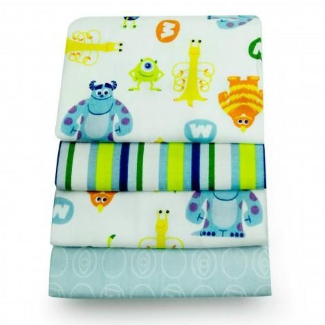 MONSTERS, INC. Sulley 4-Pack Receiving Blankets