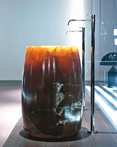Antonio Lupi Barrel Washbasin In Onix. Liquid Design +44 (0)1604 721993