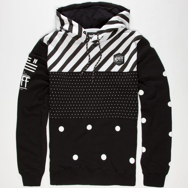 neff black n white mens hoodie 240907100 sweatshirts tillyscom - Hoodie Design Ideas