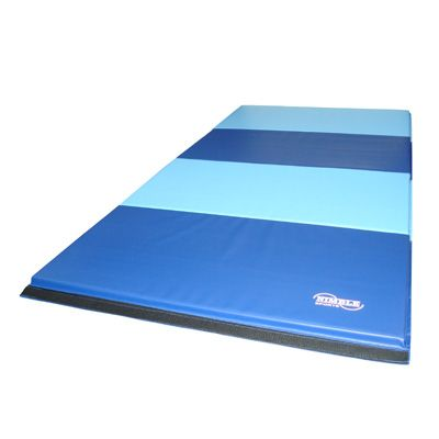 8ft Blue and Light Blue Folding Mat. This mat is excellent for beginning and advanced gymnastics, exercise, aerobics, plus more. The mat is great for home use and competitive gymnastics. Satisfaction is Guaranteed The folding mats will fold down to (4) 2ft X 4ft sections to allow easy transport and storage. We are the manufacturer so we can make any color combo. Nimble Sports guarantees everything sold with a 1 year warranty. #Gymnastics #MadeinAmerica #MadeinUSA #GymnasticsEquipment