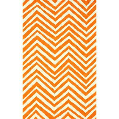 nuLOOM Veranda Orange Chevron Area Rug Rug Size: 8' x 10'