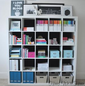 Honey We're Home: Fabric Lined Expedit Bookshelf