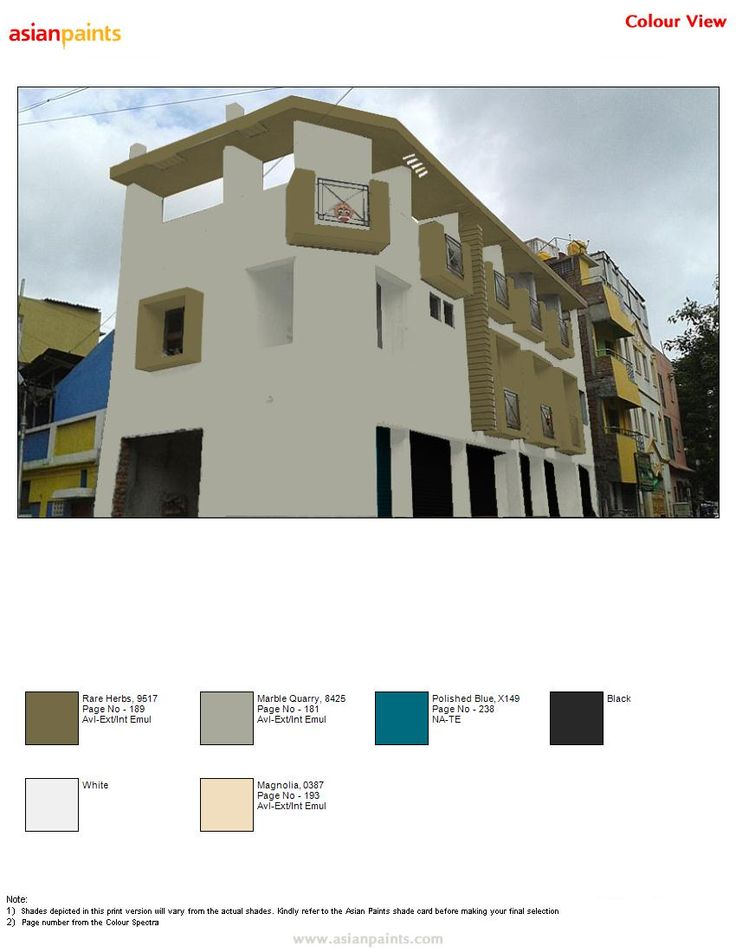 17 best images about color combination for exterior on pinterest arches sun shade and ceilings for Colour combination exterior painting asian paints