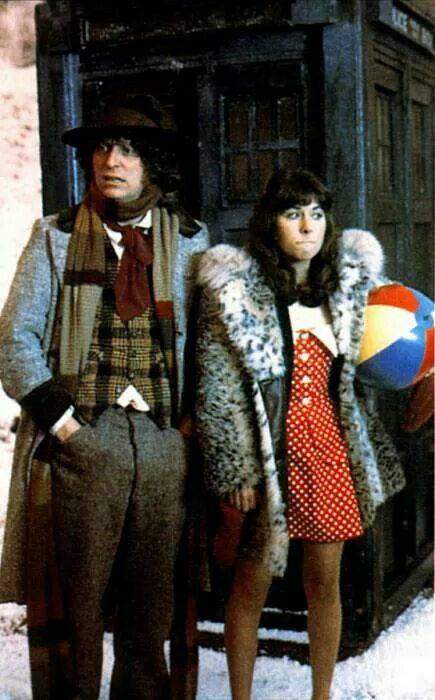 #4 and Sarah Jane. Looks like she dressed for Rio. He always promises beaches and takes them to the edge of the universe instead