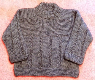 Size 2, No Sew; Multidirectional Pullover,Pattern will be out there on Patternfish soon, I hope.  MommaBearKnits2(Too)