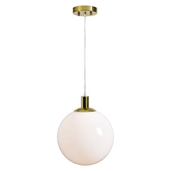 Kloden 1-Light Gold Pendant Renwill