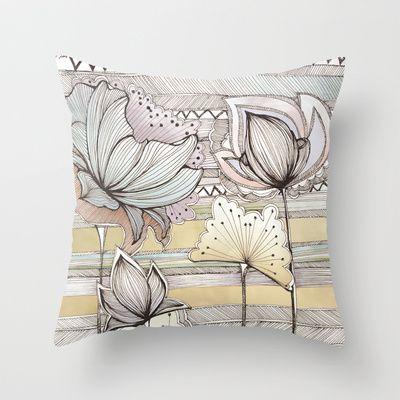 Wild Flowers Throw Pillow by Jessica Wilde - $20.00