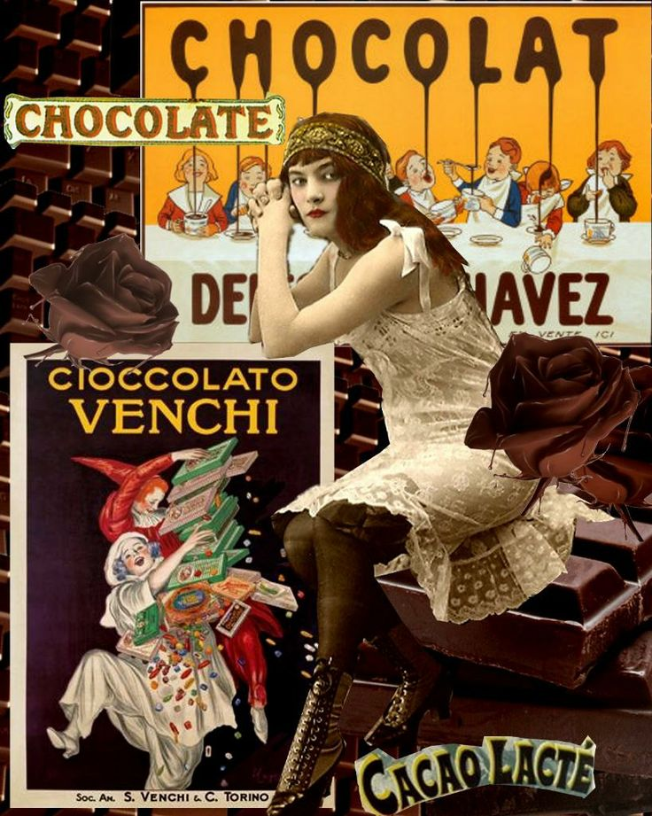 Vintage Good Ads - Vaguely sinister with the dripping chocolate.
