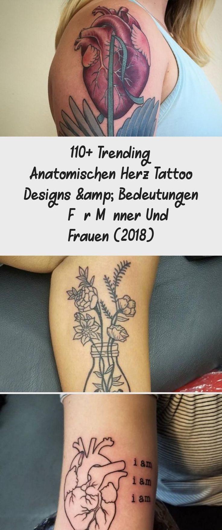 110+ Trending anatomischen Herz Tattoo Designs