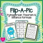 "This ""Flip-a-Pic"" Activity is a fun way for students to review the Pythagorean Theorem and Distance Formula!  Students are given an Activity Sheet,..."