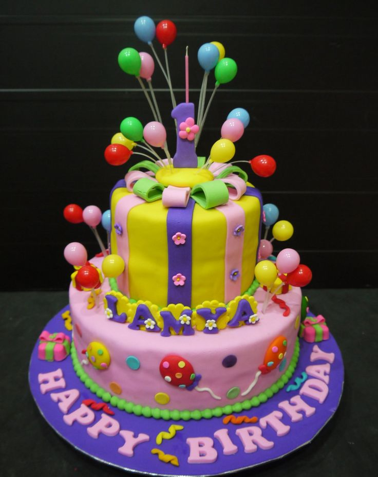 Cake Images With Balloons : Fondant cake. Balloons. Kids birthday. Cakes ...