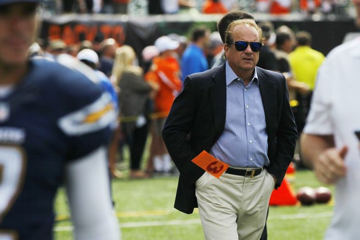 Chargers chairman Dean Spanos walks the sidelines before his team's September game in Cincinnati.