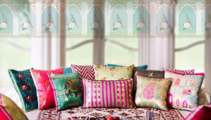 New serai good earth india silk cushion collection they for Good earth home decor india