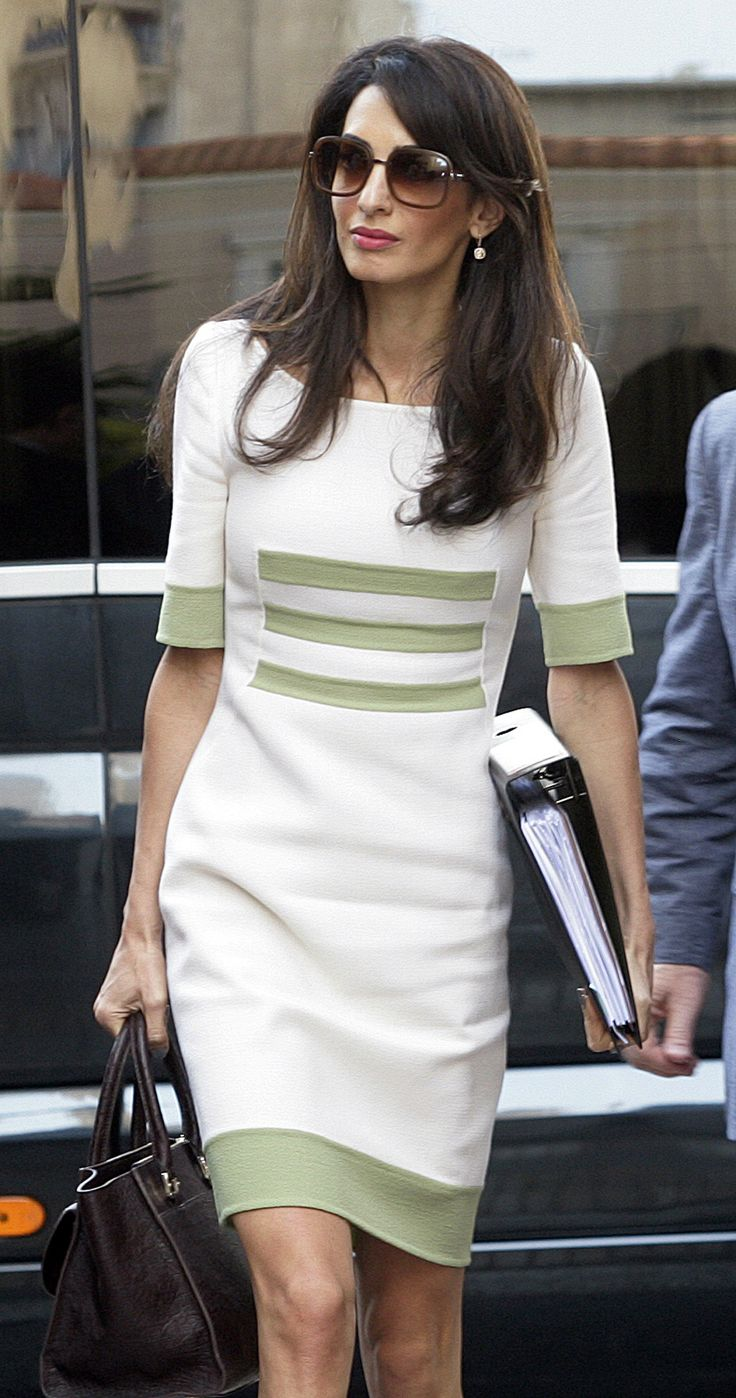 Amal Clooney returns to work post-wedding, looks exceptionally chic via @stylelist | http://aol.it/1rd19OU