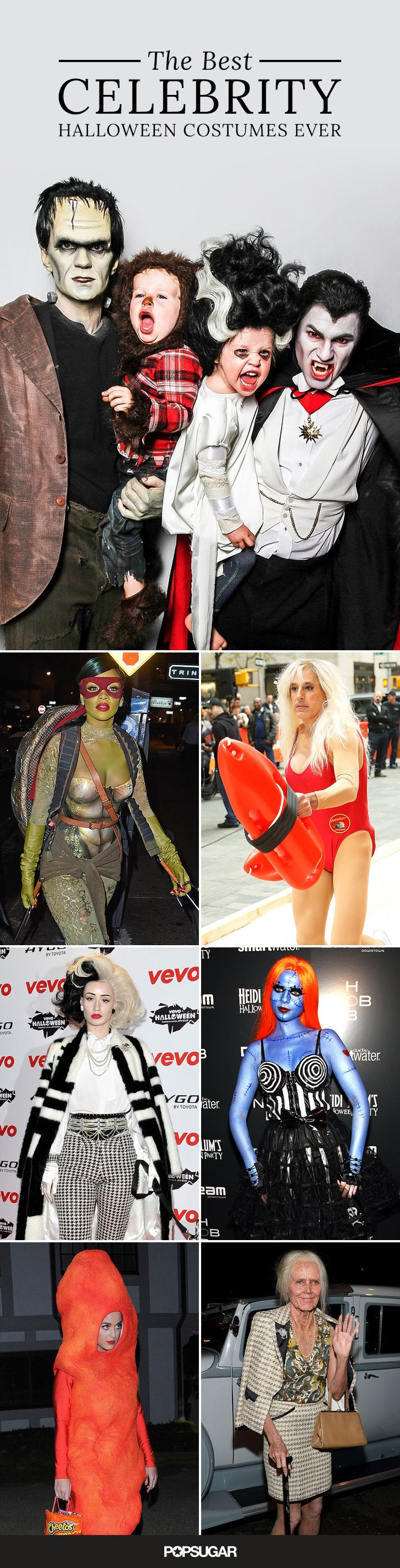 Some celebrities really don't hold back when it comes to creative Halloween costumes! Get inspiration and ideas from the stars with a look at the BEST celebrity Halloween costumes!