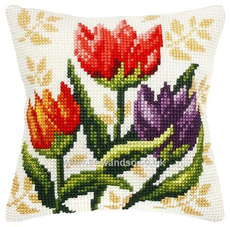 Tulips Cushion Front Chunky Cross Stitch Kit