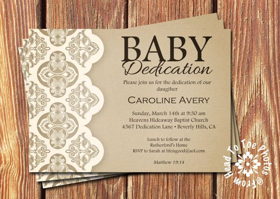 Hey, I found this really awesome Etsy listing at https://www.etsy.com/listing/176060514/baby-dedication-invitations