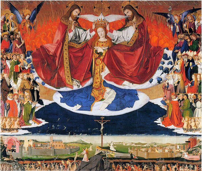 File:Enguerrand Quarton, Le Couronnement de la Vierge (1454).jpg - Wikipedia, the free encyclopedia