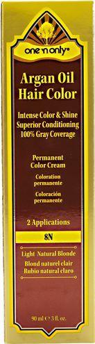 8N Light Natural Blonde Permanent Cream Hair Color