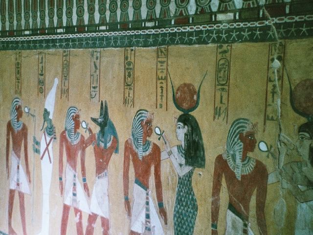 Wall decorations from kv43 tomb of thutmose iv valley of for Ancient egyptian tomb decoration