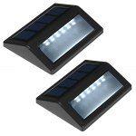 2pcs 6-LED Light Control Solar Garden Lamp