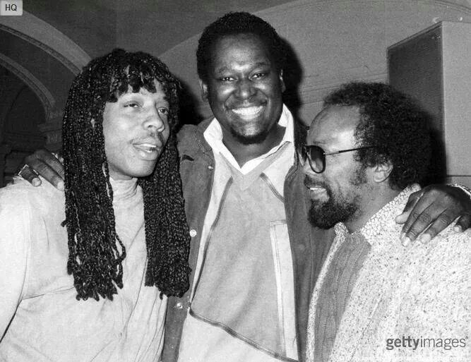 Rick James and friends Luther & Quincy in Black and White - Codeblack Icons