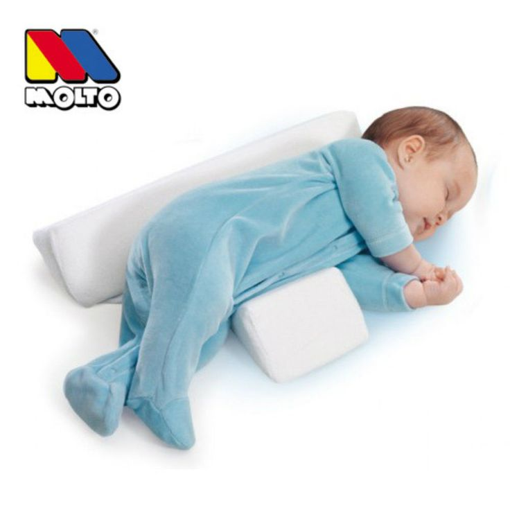 Molto Newborn Baby Sleep Positioner Infant Anti Roll Cushion Two Wedge Pillow #Molto