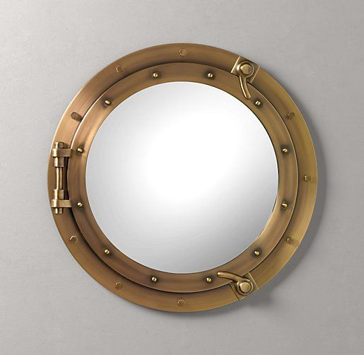 25 best porthole mirror ideas on pinterest nautical for Restoration hardware round mirror