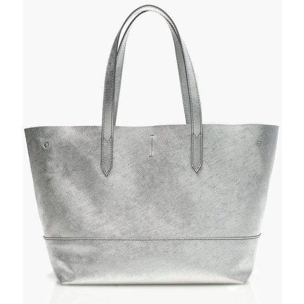 J.Crew New Uptown Tote ($235) ❤ liked on Polyvore featuring bags, handbags, tote bags, genuine leather tote bag, metallic tote bags, leather tote, leather handbags i white leather purse