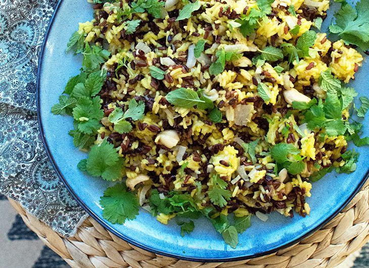 Her får du en skøn opskrift på de fantastiske krydrede indiske ris som er en perfekt ledsager til de dejlige indiske madretter