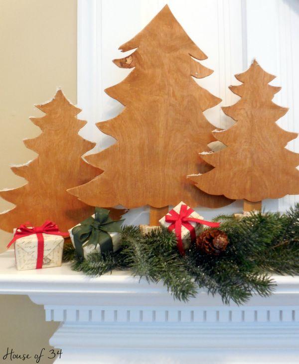 Easy DIY wood Christmas trees