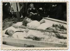 Double Post Mortem Photo Woman and Child in Casket 1940s Photo