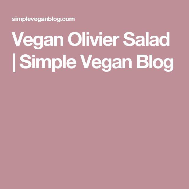 Vegan Olivier Salad   Simple Vegan Blog