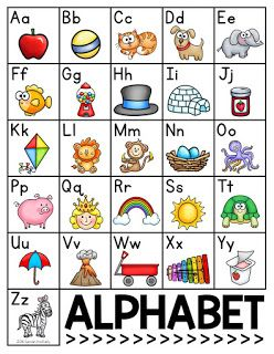 FREE alphabet chart for your beginning writers