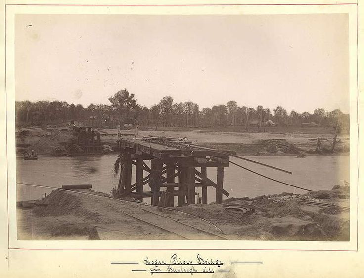 history of beenleigh - Google Search_1887_Logan River Bridge from Beenleigh Side