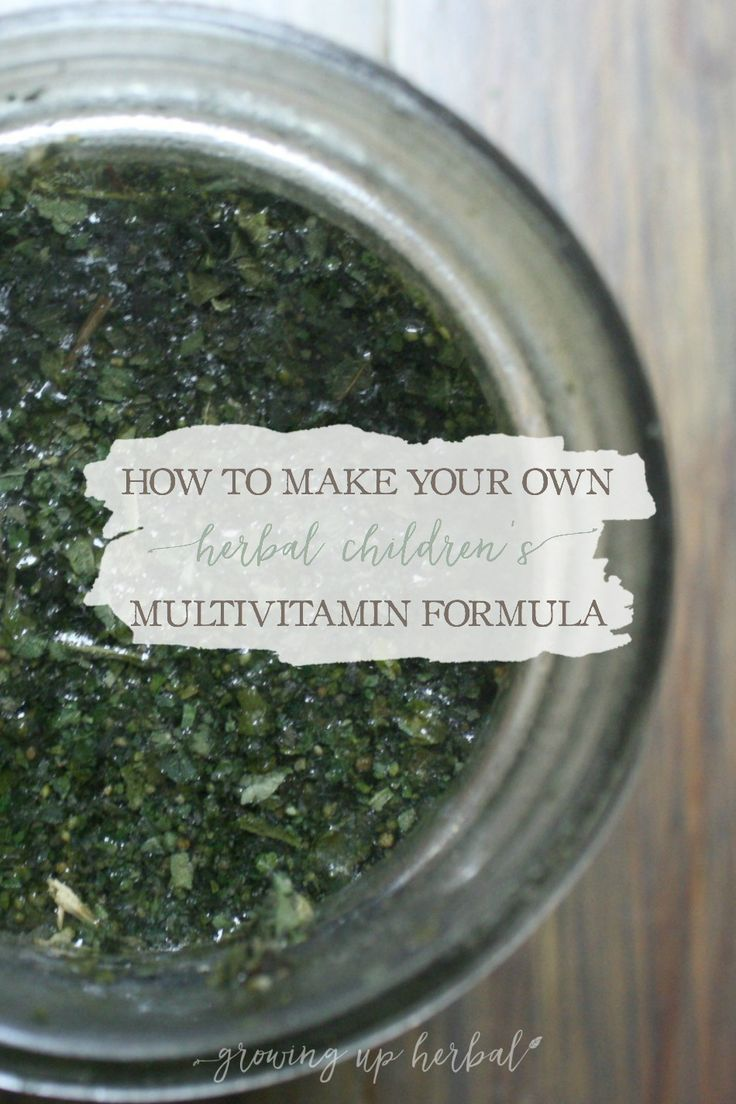 How To Make Your Own Herbal Children's Multi-Vitamin Formula | GrowingUpHerbal.com | Learn to make your own herbal children's multi-vitamin formula to boost your child's nutrition using herbs! It's simple and tastes great! #ChildNutrition