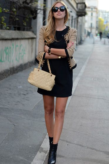 Classy Swag:  Minis, Chanel Bags, Ankle Boots, Street Style, Blazers, Currently, Fashion Trends, Little Black Dresses, Work Outfit
