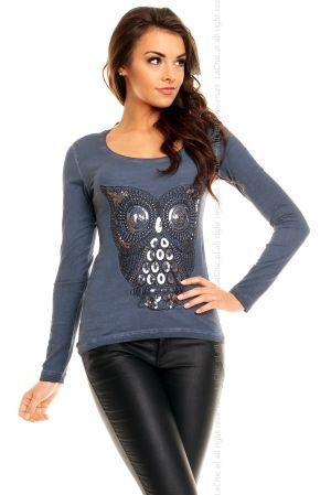 Bluzeczka CARISMA 6024 NIEBIESKA